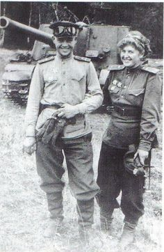 A Russian husband and wife tank team!! Their vehicle is actually a tank destroyer/heavy assault gun, the mighty ISU-122.