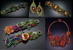 Inspiration- Bead Jewelry Designs by Julie Powell. Featured EyeCandy in Bead-Patterns.com Newsletter!