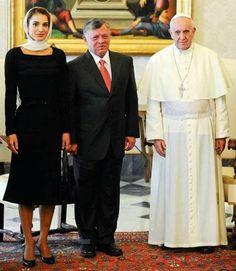 King Abdullah II and Queen Rania of Jordan, and H.H. Pope Francis