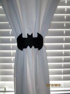 Lil Bug Creations via Etsy bat curtain tie-backs