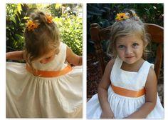 Little girls ivory eyelet dress