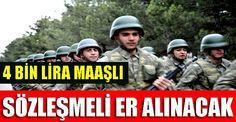 İzmir ve çevre illerden sözleşmeli er olmak isteyenler için; Kara Kuvetleri Komutanlığı Çarşamba günü Bornova'daki 57'nci Topçu Tugay'ına
