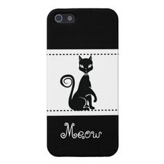 Pretty Black Cat Meow Cat Lover iPhone 5 Case