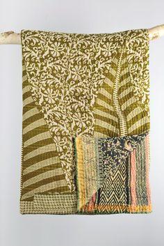 Kantha quilts | vintage kantha throws | Decorator's Notebook