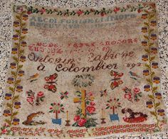 An Absolutely Beautiful 19th Century FRENCH Sampler Dated 1892 ~ eBay