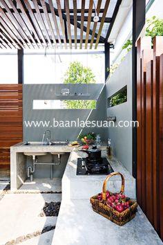 Backyard Kitchen, Outdoor Kitchen Design, Interior Design Kitchen, Kitchen Decor, Kitchen Designs, Outdoor Kitchens, Backyard Patio, Backyard Ideas, Patio Ideas