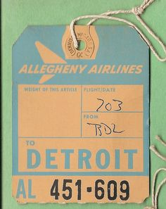 Detroit..Allegheny Airlines