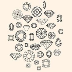 Organic Cream Jewels and DIAMONDS Shirt long sleeve by alittlelark