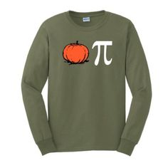Amazon.com: Pumpkin Pi Pie Long Sleeve T-Shirt Funny Thanksgiving Christmas Xmas Humorous Wishbone Turkey Santa Present Gift Ugly Sweater Long Sleeve Tee: Clothing