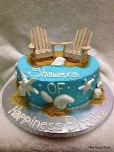 Beach Bridal Shower Cake   Cake cake cake   Pinterest