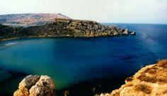 Gnejna Bay.  Una de las playas de arena más bonitas de Malta. Frecuentada sobre todo por familias maltesas.