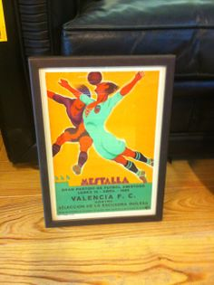 Cartel del partido amistoso entre el @Valencia CF contra la selección de la escuadra inglesa de 1929