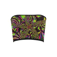 Green and Pink Slime Fractal Bandeau Top – BigTexFunkadelic Pink Slime, Bandeau Tops, Fractals, Psychedelic, Zip Around Wallet, Neon, Stylish, Womens Fashion, How To Wear