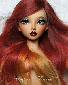Finished face up, minifee Céline (tan skin) for Angelica | Flickr - Photo Sharing!