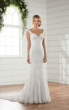 D2320 Ethereal Backless Wedding Gown by Essense of Australia