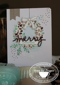 Yvonne is Stampin' & Scrapping: Stampin' Up! Christmas Card Wonderous Wreath #stampinup