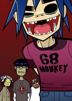 Fan Art of gorillaz for fans of Gorillaz 1617654 Gorillaz Band, Gorillaz Noodle, Gorillaz Art Style, Gorillaz Quotes, Jamie Hewlett Art, 2d And Noodle, Sunshine In A Bag, Comics Anime, Blackwork