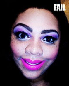 50 Photos Of Makeup Gone Horribly Wrong