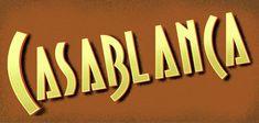 Retro Vintage Style Casablanca Lettering