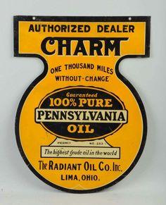 Rare Charm Motor Oil Sign