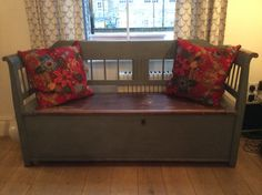 Austro-Hungarian Settle c1870 Width: 172cm This comfortable, elegant bench provides excellent storage. £825.00 @Susan Osbourne. SOLD