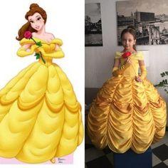 Disney Princess Dresses, Princess Costumes, Yellow Flower Girl Dresses, Girls Dresses, Toddler Dress, Baby Dress, Beauty And The Beast Theme, Belle Costume, Barbie