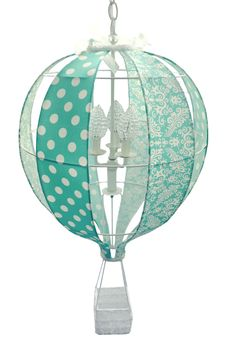 Hot Air Balloon in turquoise? Why not with Charn & Company's new hot air balloon design. So unique and spectacular for your child's room.