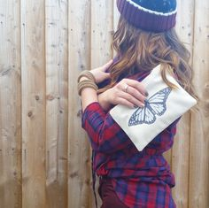 This item is unavailable Butterfly Makeup, Deer Makeup, Fluffy Socks, Makeup Pouch, Your Girlfriends, Handmade Silver, Pouches, How To Memorize Things, My Etsy Shop