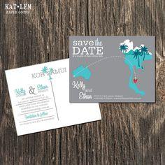 Thailand – Save the Date – Koh Samui Destination Wedding – Wedding Save the Dates