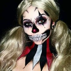Scary Halloween Makeup Looks to Be the Queen of Horror ★ See more: https://makeupjournal.com/scary-halloween-makeup-horror-queen/ #nails