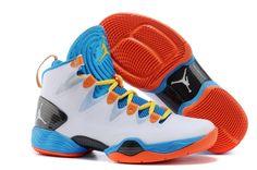official photos f62d8 10e74 Nike Air Jordan XX8 Azul Hombre Blanco Naranja Zapatillas Nike Air Jordan  8, Nike Air