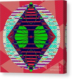 Abstract Canvas Print featuring the digital art Li Age Four by Caroline Gilmore