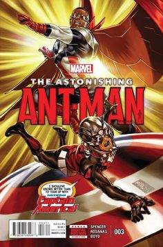 Because you demanded it: Scott Lang, the Astonishing Ant-Man, teams up with Sam Wilson, Captain America! Just like you saw in the movie!