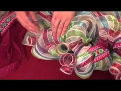 Episode 1: How to Make a Deco Poly Mesh Wreath--Step 1 - YouTube Wreath Crafts, Diy Wreath, Burlap Wreath, Wreath Ideas, Diy Crafts, Hobby Lobby Crafts, Christmas Mesh Wreaths, Christmas Ideas, Christmas Decorations