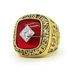 1991 Minnesota Twins World Series Championship Ring. Best gift from www.championshipringclub.com for Minnesota Twins fans. Custom your own personalized championship ring now.