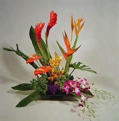 Tropical Arrangement in low dish