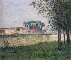 Gustave Loiseau. By the Oise at Parmain, 1898   Flickr - Photo Sharing!