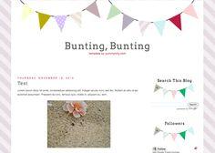Blogger Candy - Free Blogger + Blogspot templates: Bunting Blog Template Blogger Blogspot, Blog Backgrounds, Free Candy, Blogger Tips, Free Blog, Bunting, Random Things, Blogging, Frames