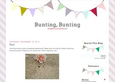 Blogger Candy - Free Blogger + Blogspot templates: Bunting Blog Template