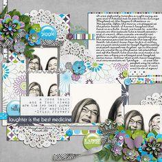 Digital Scrapbook Layout by Cheryl | Me Time Kit | Bella Gypsy Designs.