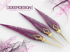 Star Guardians Xayah Feather Blades by on DeviantArt Armas Ninja, Fantasy Dagger, Fantasy Weapons, Fantasy Blade, Swords And Daggers, Knives And Swords, Knife Aesthetic, Character Inspiration, Character Design