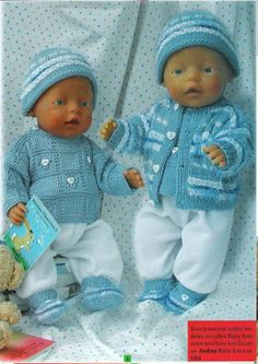 ideas baby born stricken free pattern for 2019 baby new concepts for new born child pictures soooo candy baby born ideas photography soooo sweet Knitting Dolls Clothes, Crochet Doll Clothes, Knitted Dolls, Doll Clothes Patterns, Doll Patterns, Baby Born Clothes, Trendy Baby Clothes, Crochet Baby Shoes, Crochet For Boys