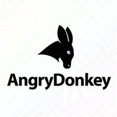 Logo Design of a black donkey mascot For Sale On StockLogos | Angry Donkey logo