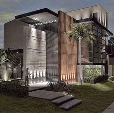 25 mountain modern house in colorado robbins architecture 6 Modern Exterior House Designs, Modern House Facades, Modern Villa Design, Dream House Exterior, Exterior Design, House Architecture Styles, Facade Architecture, Modern Architecture Design, Bungalow House Design