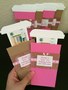 Thank you cards for delivery and recovery nurses at the hospital.