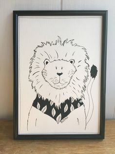 Excited to share the latest addition to my #etsy shop: Lion print, animal art, baby room art, nursery decor, black and white lion print, animal print kids room