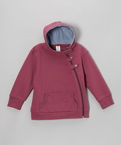 Take a look at this Plum 'Great' Fleece Zip-Up Hoodie - Infant, Toddler & Kids on zulily today!