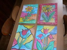 Olejova_vitraz_8 Projects For Kids, Crafts For Kids, Arts And Crafts, 5th Grade Art, Easter Art, Spring Art, Art Activities, Art For Kids, Jar
