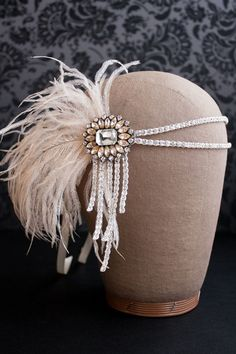 ༻⚜༺ ❤️ ༻⚜༺ Flapper Headband Great Gatsby Headpiece Rhinestone // By  Danani ༻⚜༺ ❤️ ༻⚜༺