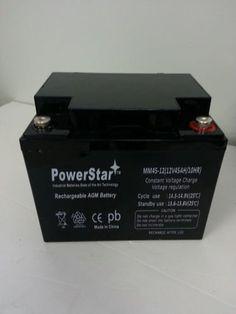 PowerStar® 12V 45AH SLA Battery For CSB EVX12400, GP12380, GP12400, GPL12400.